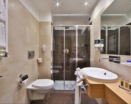 Renovated and comfortable bathroom at the Best Western Hotel President, Rome
